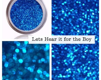 Glitter Makeup | Blue Cosmetic Glitter Pigment | Bright Blue | Let's Hear It For The Boy | Glitter Sparkle