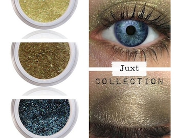 Eyeshadow Kit Palette, Green Gold, Smokey Smokey, Eyeshadow, Eye Shadow, JUXT, Natural Mineral Eye Colors, Vegan Makeup, Eye Color, Olive