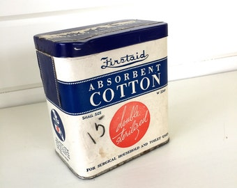 Vintage Cotton Firstaid Double Sterilized Bathroom Display Pat Date 1930s