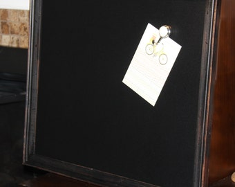 Large, Rustic, Vintage, Wood Framed, Magnetic, Chalkboard, (21 1/2 x 25 1/2 inches) Wedding/Home/Restaurant