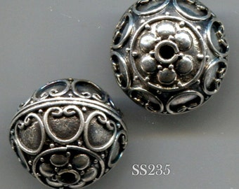 Bali Sterling Silver Round Beads- 3 Designs Vintage SS231.SS235.SS238*