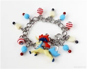 Pokemon Charm Bracelet, Keldeo Figure, Kawaii Bracelet, Gamer Girl, Pokemon Jewelry, Pokemon Gifts