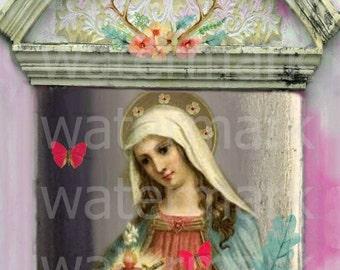 Sacred Heart Immaculate Heart 8x10 Print