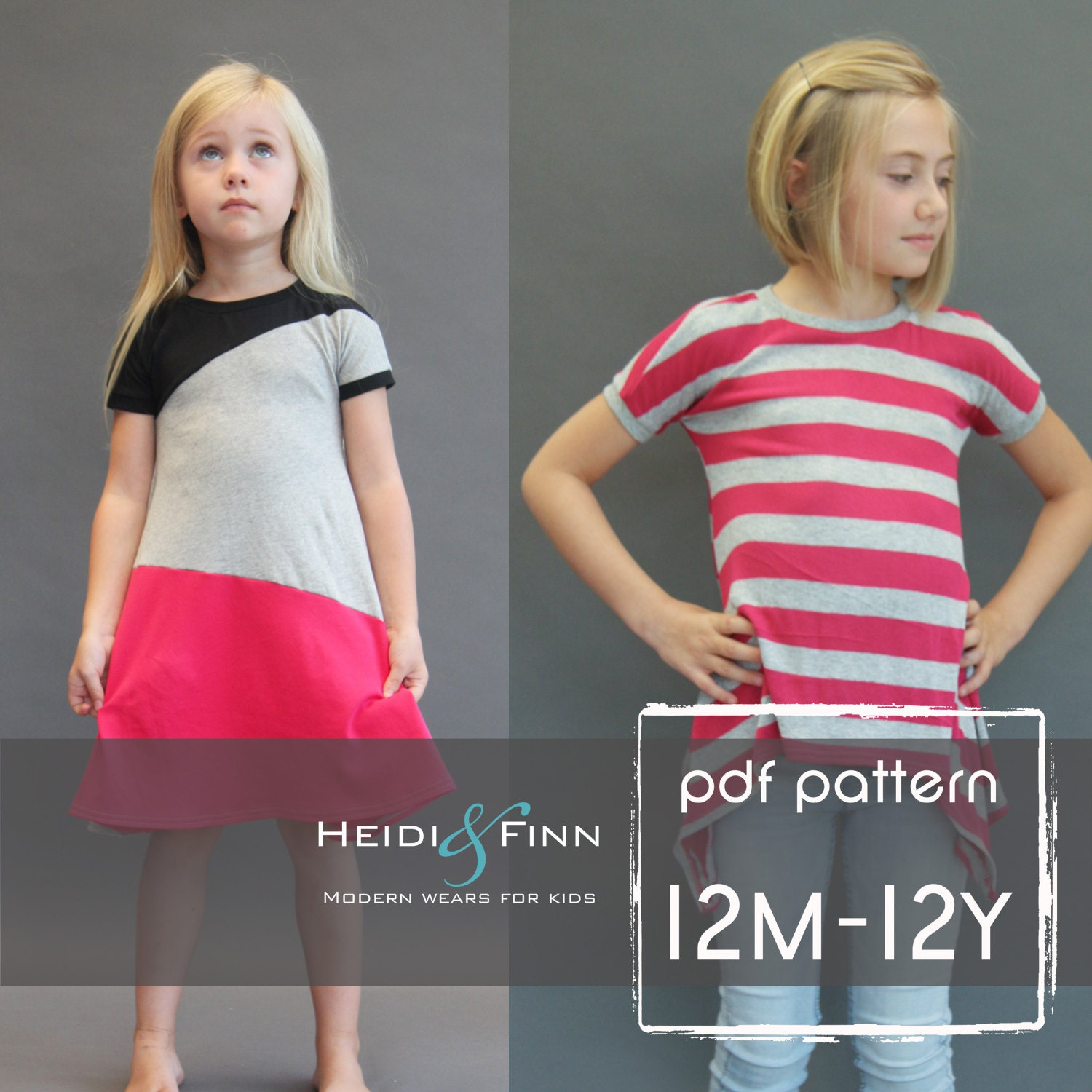 Kopic tunic dress pdf sewing pattern and tutorial 12m 12y tunic this is a digital file jeuxipadfo Choice Image