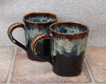 Latte coffee mug tea cup handthrown in stoneware pottery ceramic