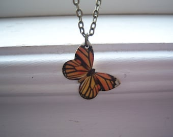 Butterfly Necklace -Monarch Butterfly Necklace  Free Gift With Purchase