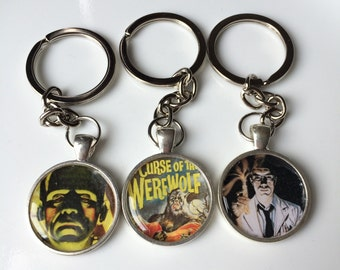 Retro Horror Movies / Pop Culture Keychain Collection