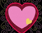 SWEETHEARTS #12- 1 Machine Embroidery Design Instant Download 4x4 5x7 6x10 hoop (AzEB)