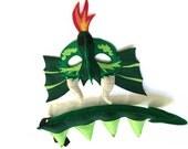 DRAGON Felt Animal Mask and Tail Set for Children