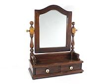 Vintage Ethan Allen Vanity Mirror / Shaving Mirror