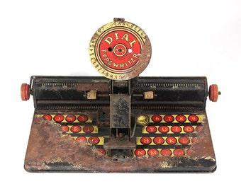 Vintage Dial Typewriter Litho Tin Toy - Marx