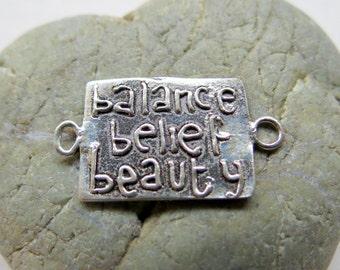 NEW Beautiful .925 Sterling Silver Link (1) Artisan Findings