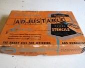 Vintage Brass REESES Adjustable Lettering Stencils