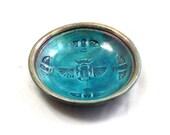 Raku Egyptian Scarab Pottery Bowl