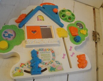 Vintage 1985 Fisher Price Activity Center Crib Attachment Musical