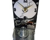 FREE SHIPPING! Hard Drive Clock Accented with Large Disk Spindle Assembly and Wavy Hand.