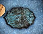 Stoneware Ceramic Spoon Rest,large Ceramic Spoon Holder, Pottery Spoon Rest, Ceramics & Pottery, Housewares, Kitchen Accessories