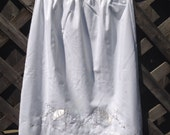 Sweet Small Cotton Half Slip W Satin Embroidery & Umbrellas