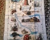 Unused Vintage Kay Dee California Kitchen Tea Towel