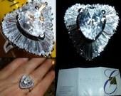 Midnight Romance Ring. Elizabeth Taylor for Avon. Beautiful Cocktail Ring Vintage. Size 7. Original Box. 1996.