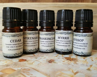 Biblical Aromatherapy Essential Oils Set. Ancient Aromatics from the Bible.
