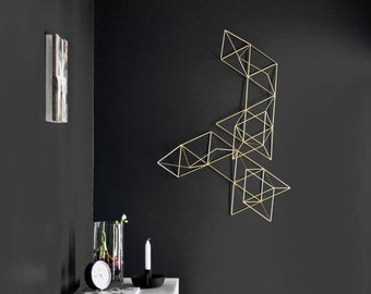 LUX - Large Abstract Wall Sculpture - Himmeli