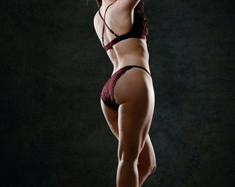 lace lingerie panty with triangle back - JOY range - ready to ship