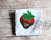 Girls Strawberry Appliqued Shirt / Personalized / Embroidered / Monogram/ Strawberry / Girls Strawberry Shirt / Spring / Summer Strawberries