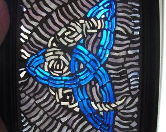 Trinity with moon glass mosiac