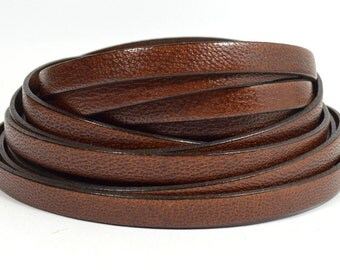 10mm Camel Leather - Medium Brown - 10MFC-3 - Choose Your Length