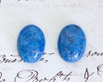 Oval Denim Lapis Cabochons - 18x13mm or 25x18mm Loose Semi-Precious Gemstones