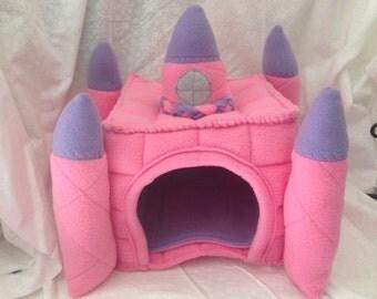 Hidey Hut for Hedgehog Guinea Pig Fleece Castle House with Floor Made to Order Item