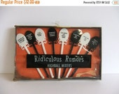 ON SALE Vintage Ridiculous Rumors highball Mixers Stirs Barware Gag Gift Black and white Drink Stirs