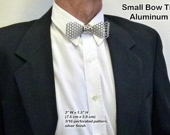 Metal, Small Neck Bow Tie, Aluminum