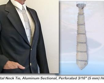 """Metal Neck Tie, Aluminum, Perforated 3/16"""" (5 mm) Holes"""