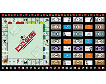 Quilting Treasures Fabric Monopoly Game Board- panels