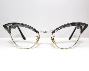CATS EYE 1950s eyeglasses womens,12 k  gold filled , American Optical  Brand USA / rh422