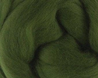 18 Micron Wool Roving - 50 grams (1.75 oz) - Ivy