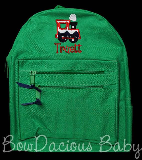 Train Backpack, Boys Personalized, Custom Boys Backpack ...