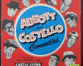 Great Vintage Super 8 Movie Reel-Abbot and Costello