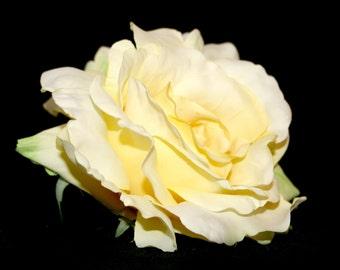 Light Yellow Georgia Rose - Artificial Flowers, Silk Flower Heads - PRE-ORDER