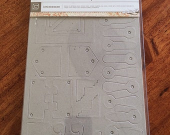 Basic Grey Chipboard Elements