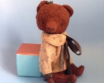11 inch Artist Handmade Vintage Looking Well Aged Teddy Bear Cinnamon by Sasha Pokrass