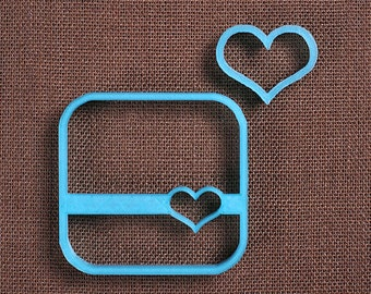 Heart Square Cookie Cutter Set, Square Plaque Cookie Cutter, 3D Printed Cookie Cutters, Mini Heart Cookie Cutter, Wedding Cookie Cutters