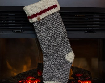 Crochet PATTERN Polar Ridge Crochet Christmas Stocking Crochet Christmas Pattern