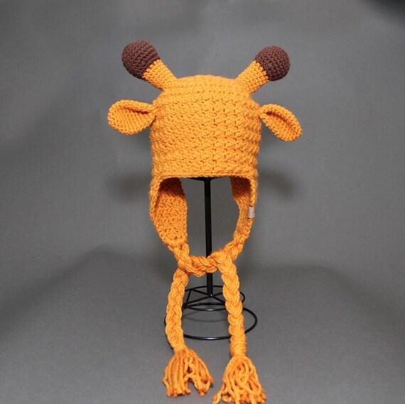 Crochet PATTERN Gentle Giraffe Animal Crochet Hat Pattern Includes 5 Sizes