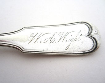 W. A. WRIGHT Name Engraved Marked *Rogers Bro's A.1 Silverplate Antique Fork