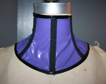Purple Pvc Neck corset