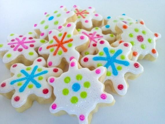 Snowflakes Mini Sugar Cookies- 2 Dozen