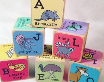 Unusual Animal Alphabet Blocks